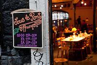 Sous le Pont restaurant, Reitschule complex, Bern, Switzerland, 26 August 2011