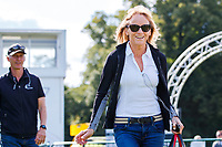 ESNZ HP Eventing Dressage Coach, Isabel Wessels, is having a fabulous day. 2018 GBR-Land Rover Burghley Horse Trials CCI4*. Friday 31 August. Copyright Photo: Libby Law Photography