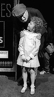 AileenQuinn #JohnHuston filming #Annie 1981<br /> Photo By Adam Scull/PHOTOlink.net