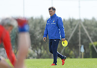 20190226 - LARNACA , CYPRUS :  illustration picture shows the Italian team with Italian assistant coach Attilio Sorbi during a Matchday -1 training prior to their game against the women team of Mexico , on Tuesday 26 February 2019 at the Alpha Sports Grounds in Larnaca , Cyprus . This will be the first game in group B for Belgium during the Cyprus Womens Cup 2019 , a prestigious women soccer tournament as a preparation on the European Championship 2021 qualification duels. PHOTO SPORTPIX.BE | DAVID CATRY