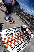 Graham Rahal, Rahal Letterman Lanigan Racing Honda, Scott Dixon, Chip Ganassi Racing Honda, checkered flag