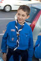 Young Boy Scout in uniform.