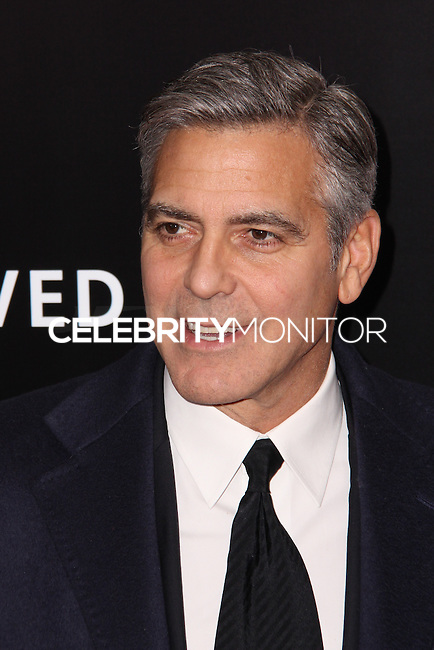 """NEW YORK, NY - FEBRUARY 04: George Clooney at the New York Premiere Of Columbia Pictures' """"The Monuments Men"""" held at Ziegfeld Theater on February 4, 2014 in New York City, New York. (Photo by Jeffery Duran/Celebrity Monitor)"""