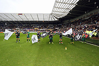 Wednesday, 01 January 2014<br /> Pictured: <br /> Re: Barclay's Premier League, Swansea City FC v Manchester City at the Liberty Stadium, south Wales.