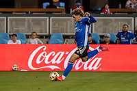 SAN JOSE, CA - SEPTEMBER 4: Cade Cowell #44 of the San Jose Earthquakes dribbles the ball during a game between Colorado Rapids and San Jose Earthquakes at PayPal Park on September 4, 2021 in San Jose, California.
