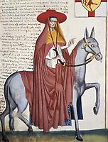 Capodilista Codex. 1434. Clergyman. Miniature Painting. ITALY. Padua. Municipal Museum of Padua.