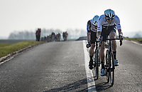 Sep Vanmarcke (BEL/Israel Start-Up Nation) & Victor Campenaerts (BEL/Qhubeka ASSOS) breaking free of the peloton<br /> <br /> 53rd Le Samyn 2021<br /> ME (1.1)<br /> 1 day race from Quaregnon to Dour (BEL/205km)<br /> <br /> ©kramon