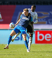 5th April 2021; Liberty Stadium, Swansea, Glamorgan, Wales; English Football League Championship Football, Swansea City versus Preston North End; Emil Riis Jakobsen of Preston North End controls the ball while under pressure from Marc Guehi of Swansea City