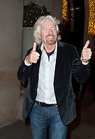 December 11 2017 PARIS FRANCE<br /> Businessman Richard Branson at Georges V<br /> Hotel on Avenue Georges V Paris for the French Summit Climate 2017.