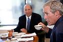 President George W. Bush and Howard Lutnick