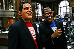 """Romney and Obama take part during the """"Run up to the Election"""" in NYC"""