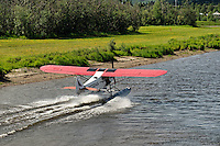 Float plane on the Chena River, Alaska