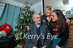 Andy Hickey from Lixnaw with his daughters Rosaleen and Lisa who are disappointed their sister Catherine won't make it back to Kerry for Christmas.