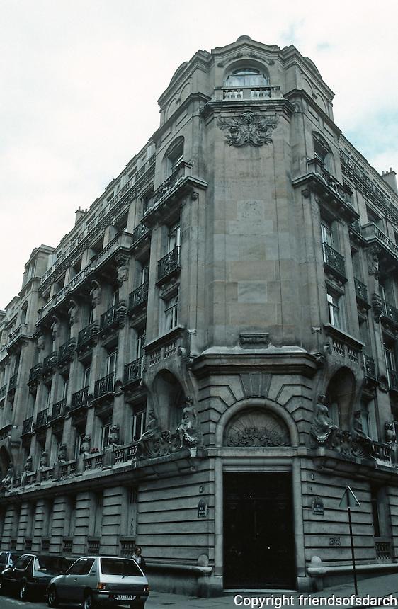 J. Boussard: Apartment Building at No. 4 Rue Jasmin.   Photo '90.