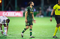 LAKE BUENA VISTA, FL - AUGUST 11: Diego Valeri #8 of the Portland Timbers argues the call during a game between Orlando City SC and Portland Timbers at ESPN Wide World of Sports on August 11, 2020 in Lake Buena Vista, Florida.