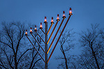 Menorah lighting in Boston Common, Boston, Massachusetts, USA