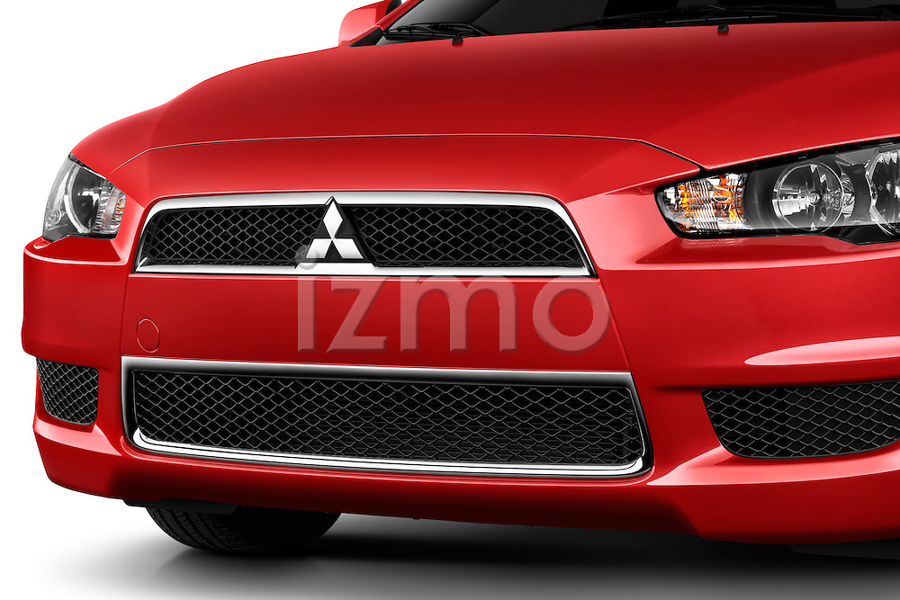 Front grille detail view of a 2012 Mitsubishi Lancer SE