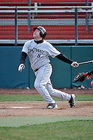 Cincinnati Bearcats outfielder Justin Riddell (8)  during a game vs. St. John's Red Storm at Jack Kaiser Stadium in Queens, NY;  March 25, 2011.  St. John's defeated Cincinnati 3-2.  Photo By Tomasso DeRosa/Four Seam Images