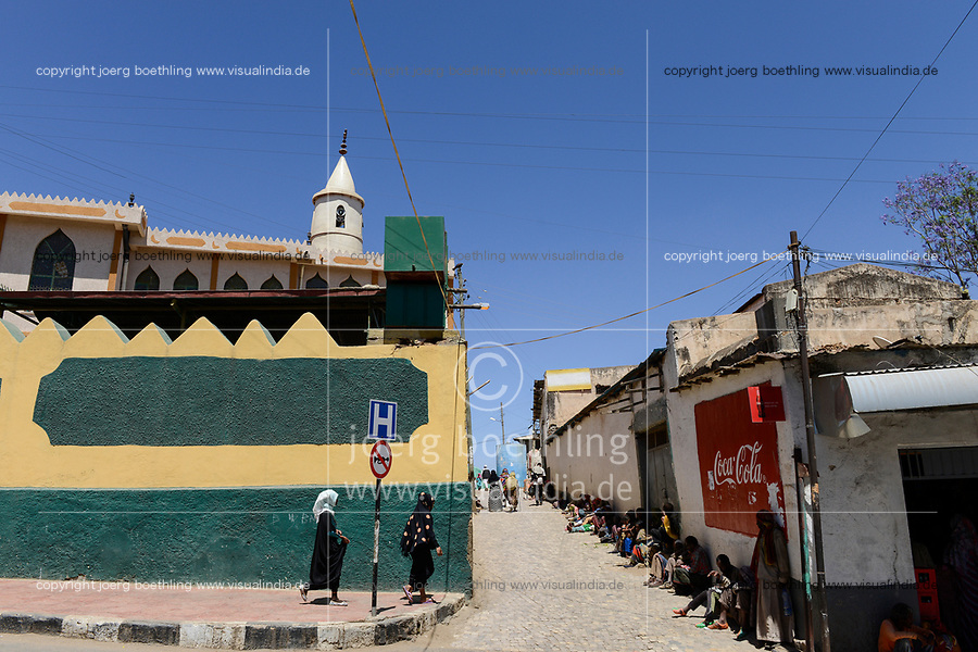 ETHIOPIA , Harar, old town, mosque / AETHIOPIEN, Harar, Altstadt, Moschee
