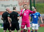 Hamilton Accies v St Johnstone…01.09.18…   New Douglas Park     SPFL<br />A happy Zander Clark at full time<br />Picture by Graeme Hart. <br />Copyright Perthshire Picture Agency<br />Tel: 01738 623350  Mobile: 07990 594431