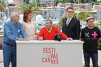 Michel Legrand - Kerry Bishe - Jerry Lewis - Daniel Noah - Kevin Pollak .Cannes 23/5/2013 .66mo Festival del Cinema di Cannes 2013 .Foto Panoramic / Insidefoto .ITALY ONLY