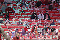 Arkansas fans watch, Saturday, January 9, 2021 during the first half of a basketball game at Bud Walton Arena in Fayetteville. Check out nwaonline.com/210110Daily/ for today's photo gallery. <br /> (NWA Democrat-Gazette/Charlie Kaijo)