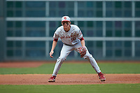 Oklahoma Sooners third baseman Peyton Graham (20) on defense against the Missouri Tigers in game four of the 2020 Shriners Hospitals for Children College Classic at Minute Maid Park on February 29, 2020 in Houston, Texas. The Tigers defeated the Sooners 8-7. (Brian Westerholt/Four Seam Images)