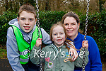 Enjoying the playground in the Killarney National park on Friday, l to r:  Charlie, Danielle and Francis Griffin.