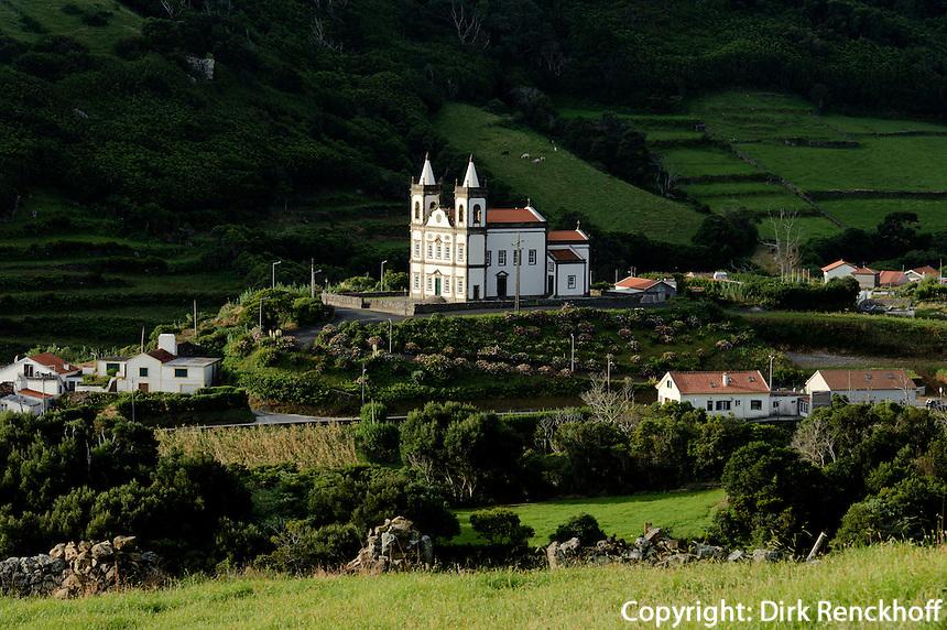 Kirche von Fazenda de Santa Cruz auf der Insel Flores, Azoren, Portugal