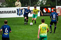 Action from the Central League football match between Miramar Rangers and Lower Hutt AFC at David Farrington Park in Wellington, New Zealand on Saturday, 10 April 2021. Photo: Charley Lintott / lintottphoto.co.nz