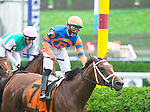 August 28, 2021: Kitten by the Sea #7, ridden by jockey Irad Ortiz win an allowance race on the turf on Travers Day at Saratoga Race Course in Saratoga Springs, N.Y.  on August 28th, 2021. Scott Serio/Eclipse Sportswire/CSM