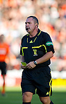 Dundee Utd v St Johnstone...25.09.10  .Ref Brian Winter gets it wrong with his yellow cards.Picture by Graeme Hart..Copyright Perthshire Picture Agency.Tel: 01738 623350  Mobile: 07990 594431
