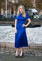 October 3 2017, PARIS FRANCE the Miu Miu<br /> Show at the Paris Fashion Week Spring Summer 2017/2018. Actress Dakota Fanning arrives at the show.