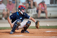 Kimble Schuessler (8) during the WWBA World Championship at the Roger Dean Complex on October 13, 2019 in Jupiter, Florida.  Kimble Schuessler attends Llano High School in Llano, TX and is committed to Texas A&M.  (Mike Janes/Four Seam Images)