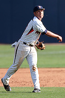 Austin Davidson (10) of the Pepperdine Waves during a game against the Oklahoma Sooners at Eddy D. Field Stadium on February 18, 2012 in Malibu,California. Pepperdine defeated Oklahoma 10-0.(Larry Goren/Four Seam Images)