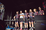Canyon-Sram Racing at the Team presentation of La Fleche Wallonne Femmes 2018 running 118.5km from Huy to Huy, Belgium. 17/04/2018.<br /> Picture: ASO/Thomas Maheux | Cyclefile.<br /> <br /> All photos usage must carry mandatory copyright credit (© Cyclefile | ASO/Thomas Maheux)