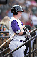 Zack Collins (30) of the Winston-Salem Dash waits for his turn to bat during the game against the Potomac Nationals at BB&T Ballpark on July 15, 2016 in Winston-Salem, North Carolina.  (Brian Westerholt/Four Seam Images)