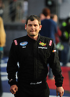 Feb 21, 2009; Fontana, CA, USA; NASCAR Nationwide Series driver Casey Atwood prior to the Stater Brothers 300 at Auto Club Speedway. Mandatory Credit: Mark J. Rebilas-