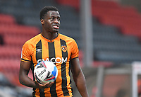 Hull City's Josh Emmanuel<br /> <br /> Photographer Dave Howarth/CameraSport<br /> <br /> The EFL Sky Bet League One - Rochdale v Hull City - Saturday 17th October 2020 - Spotland Stadium - Rochdale<br /> <br /> World Copyright © 2020 CameraSport. All rights reserved. 43 Linden Ave. Countesthorpe. Leicester. England. LE8 5PG - Tel: +44 (0) 116 277 4147 - admin@camerasport.com - www.camerasport.com