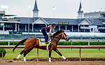 April 28, 2021: Sainthood, trained by trainer Todd Pletcher, exercises in preparation for the Kentucky Derby at Churchill Downs on April 29, 2021 in Louisville, Kentucky. Scott Serio/Eclipse Sportswire/CSM