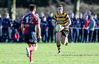 Saturday 4th February 2017 | RBAI vs BALLYCLARE HIGH SCHOOL<br /> <br /> James Hume during the Ulster Schools' Cup clash between RBAI and Ballyclare High School at  Cranmore Park, Belfast, Northern Ireland.<br /> <br /> Photograph by www.dicksondigital.com