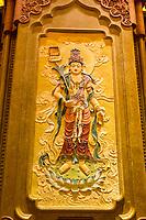Nanjing, Jiangsu, China.  Picture of a Bodisatwa, Representing the Second Level of Spiritual Attainment, Usnisa Hall, Usnisa Palace, Niushou Mountain.