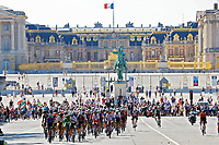 18th July 2021; Paris, France;  Illustration peloton in environment during stage 21 of the 108th edition of the 2021 Tour de France cycling race, the stage of 108,4 kms between Chatou and finish at the Champs Elysees in Paris.
