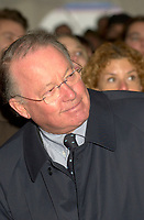 Montreal, Dec 3rd, 2001<br /> <br /> Quebec Premier Bernard Landry smile while listening to a speech during the official launch of the new Quebec Library's (Grande Bibliothcque du QuÈbec)<br /> construction on Berri street in Montreal, CANADA, Monday december 3rd, 2001.<br /> <br /> (Photo by Pierre Roussel - Images Distribution)