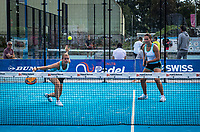 Netherlands, September 6,  2020, Amsterdam, Padel Dam, NK Padel, National Padel Championships, Final womans double:  Tess van Dinteren (NED) and Milou Ettekoven (L) (NED) <br /> Photo: Henk Koster/tennisimages.com