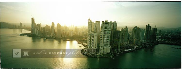 An aerial view of Panama City, Panama.