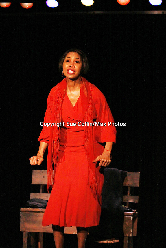 Guiding Light Kim Brockington stars in Zora which brings famed author Zora Neale Hurston to Life for Black History Month Play Festival at the Castillo Theatre, NYC on February 9, 2012. This is the dress rehearsal of the playl (Photo by Sue Coflin/Max Photos)