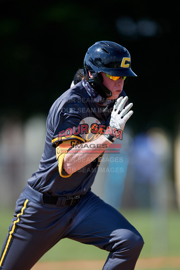Ryan Clifford (21) during the WWBA World Championship at Terry Park on October 8, 2020 in Fort Myers, Florida.  Ryan Clifford, a resident of Raleigh, North Carolina who attends Crossroads Flex High School.  (Mike Janes/Four Seam Images)