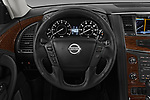 Car pictures of steering wheel view of a 2018 Nissan Armada SV 5 Door SUV