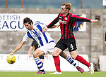 St Johnstone v Real Sociadad...12.07.15  Bayview, Methil (Home of East Fife FC)<br /> Liam Craig back in a saints shirt appearing as a trialist battles with Esteban Granero<br /> Picture by Graeme Hart.<br /> Copyright Perthshire Picture Agency<br /> Tel: 01738 623350  Mobile: 07990 594431